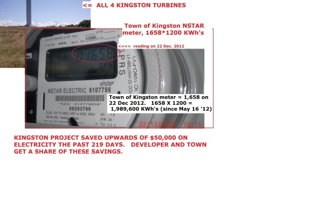 Kingston's NSTAR meter as of 22 Dec 2012, 1658 X 1200 KWh's